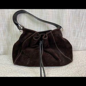 Kate Spade dark Brown suede handbag. Like new